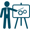 businessman-in-apresentation-with-a-graphic-on-a-board